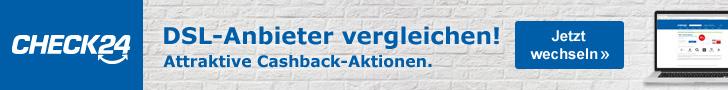 Werbebanner CHECK24 Partnerprogramm Leaderboard - DSL 728x90