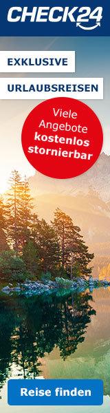 Werbebanner CHECK24 Partnerprogramm Wide Skyscraper - Pauschalreise 3 160x600