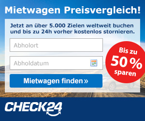 Check24 Mietwagensuche