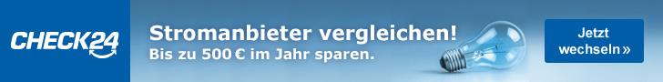 Werbebanner CHECK24 Partnerprogramm Leaderboard - Strom 2 728x90