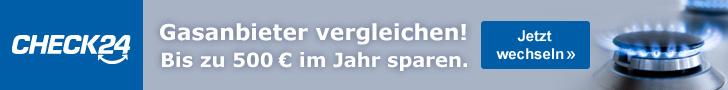 Werbebanner CHECK24 Partnerprogramm Leaderboard - Gas 2 728x90