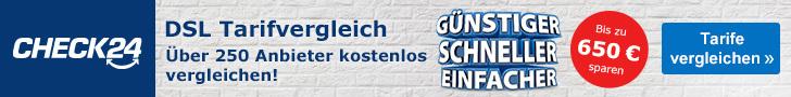 Anzeige von Check24 - Vermittlung durch faire-stromgreise.com