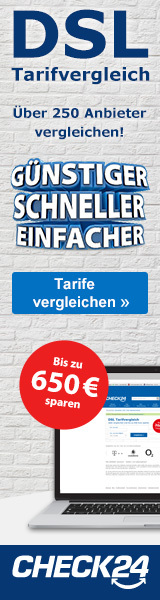 Werbebanner CHECK24 Partnerprogramm Wide Skyscraper - DSL 160x600