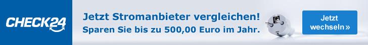 Werbebanner CHECK24 Partnerprogramm Leaderboard - Strom 728x90